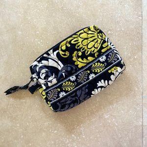 Vera Bradley Baroque Black Yellow Cosmetic Bag
